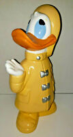 Vintage 1978 Walt Disney Donald Duck Ceramic Statues Yellow Raincoat