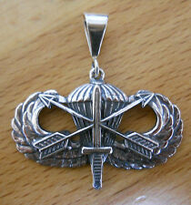 Sterling Silver U.S. Special Forces Army Airborne Basic Jump Wing pendant