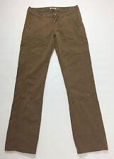 Moda moda trend pantalone donna dritto w28 tg 42 usato marrone comodo jeans T235