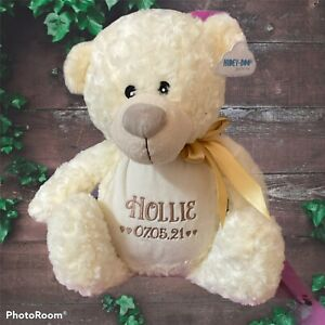 Personalised Ash Teddy Bear Memorial Keepsake Zipped On The Back For Ashes