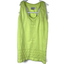 Athleta Womens Small Built In Shelf Green Rev Up Racerback Seamless Tank Top