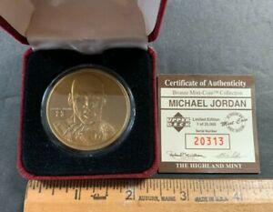 MICHAEL JORDAN HIGHLAND MINT BRONZE MINT-COIN UPPER DECK #RD/25000 (AA) 9421