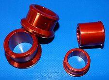 Jeu de 2 entretoises de roue aluminium anodisée  rouge Styx