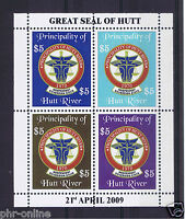 Principality of Hutt River 2009 39th Anniversary Sheetlet MUH (4 stamps)