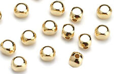 100 Gold Plated Roundish Square Spacer Beads 3MM