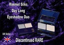 RIMMEL SILKS DAY LONG 03LASTING FLINT stay eyeshadow DUO grey + highlighter RARE