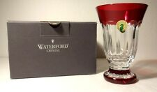 "*NEW* Waterford Crystal SIMPLY RED (2003-2004) Fluted Footed Vase 5"" New in Box"