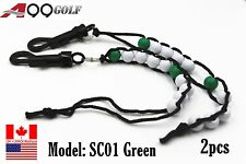 A99 Golf SC01 Beads Stroke Shot Score Counter Keeper with Clip Club Green 2pcs