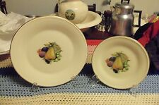 """2 - Lenox China Special Pear Fruit Dinner Plate  10 3/4 """" &  8 """""""