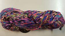 Noro Ginga #5 Pink Purple Green Aqua Black 100g Cotton Silk Wool Mix