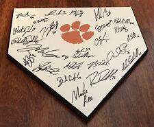 2017 CLEMSON TIGERS TEAM SIGNED HOME PLATE W/COA SETH BEER