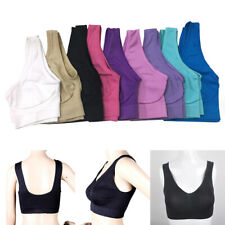 Women Seamless Sport Yoga Bra Push Up Wireless Wear Crop Fitness Vest Tank Tops