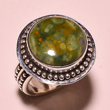 RHYOLITE VINTAGE STYLE 925 SOLID STERLING SILVER RING SIZE 6 US