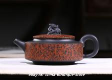 Chinese Yixing Zisha Pottery Black Clay Handmade Lucky Beast Pixiu Gongfu Teapot