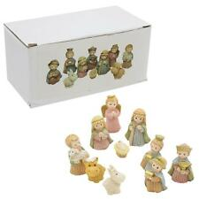 Christmas Nativity Figurine Set Traditional Scene 10 Piece Children Resin Set
