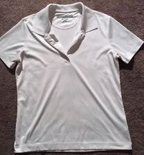 Greg Norman Play Dry Womens Golf Top Polo Style White Size Medium