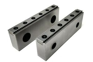 """CNC Milling Steel Vise Hard Jaw, 6"""" Wide, Serrated W/ 0.100"""" Replaceable Teeth"""