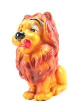 "Vintage 8.25""H Plastic Lion Coin Piggy Bank Sculpture Figure"