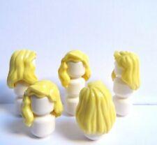 Lego 5 Girl Female Minifigure Figure Hair Wig Long Blonde Wavy