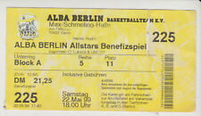 Sammler Used Ticket / Entrada Alba Berlin Allstars Benefizspiel 22-05-1999
