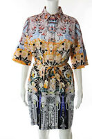 Mary Katrantzou Multi-Color Floral Print Short Sleeve Dress Size 10 New 111060
