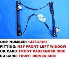VW GOLF MK4 FRONT LEFT ELECTRIC WINDOW REGULATOR FOR PASSENGER SIDE