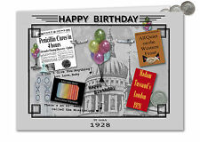 89th Birthday Card Souvenir of 1928 Silver Sixpence Gift Set (2017)