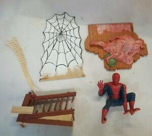 Vintage Aurora Model Built Up 1974 Spiderman Spider-Man Comic Scene Painted