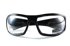 UV48124PHF Motorcycle Glasses with Transitional Photochromic Clear to Grey Lens