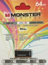New Monster Digital USB 3.0 Super Speed 64GB For Windows, Mac and Android Black