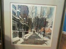 Dan Siculan Signed Artist Proof Winter Rush Matted and Framed 33X33 in Frame