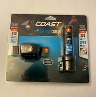Coast Headlamp Flashlight Combo Pack 400 Lumens Headlamp 320 Lumens Flashlight