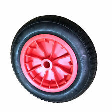 """Wheelbarrow REPLACEMENT 2x 14"""" Wheel Pneumatic Inflatable Tyre 3.50-8 Red"""