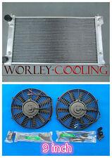 """Aluminum Radiator for VW GOLF MK1 MK2 GTI/SCIROCCO 1.6 1.8 8V Manual + 9"""" Fans"""