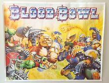 GAMES WORKSHOP CITADEL WARHAMMER 40,000 RARE VINTAGE POSTER BLOOD BOWL 1994