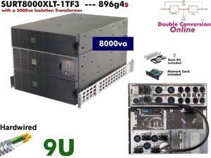 896g4s ~ APC Smart Online 8000va UPS 208/240+120v SURT8000XLT-1TF3  #NewBatts