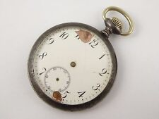 Antique Gun Metal Mechanical Pocket Fob Watch Parts Restoration  LAYBY AVAI