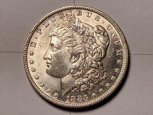 1883-O VAM 1C DDO-8/MM-O Die Break Obv/Rev Rim CUD Morgan Silver Dollar