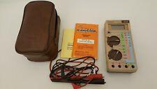 Vintage Simpson 470 Electric Multimeter In Case Manual