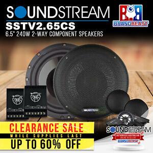 """Soundstream SSTV2.65CS 6.5"""" 240W 2-Way Component Speakers"""