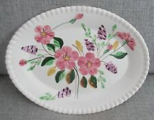 """Blue Ridge Southern Pottery """"Country Garden"""" Candlewick Floral 13"""" Oval Platter"""