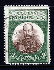 GREECE REVOLUTIONARY CRETE 1905 2 Drachma Green & Brown SG V11 VFU