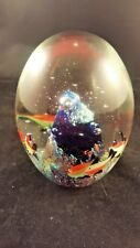 Fish And Coral Glass Paperweight Vintage