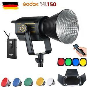 Godox VL150 VL-150 150W 5600K Tageslicht LED Videoleuchte mit BD-04 Barndoor Kit