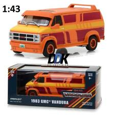 GREENLIGHT 86327 1983 GMC VANDURA CUSTOM ORANGE W/ GRAPHICS DIECAST VAN 1:43