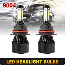2PCS 9004 HB1 LED Headlight Kit Hi/Lo Beam Headlamp Bulbs 6000K White High Power