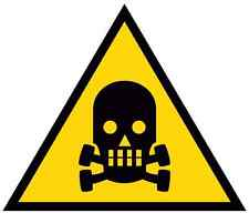 Adesivo segnaletica PERICOLO DI MORTE 140x140. Danger of death sticker