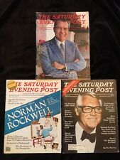 Lot Of 3 Vintage 70s Saturday Evening Post Magazines Nixon, Cary Grant, Vonnegut