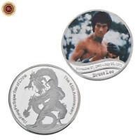 WR 45th Anniversary Of Bruce Lee Death Silver Commemorative Coin Rare Collection