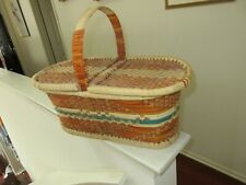 """Picnic Basket , 20"""" X 11"""" X 9"""" , Plus All The Necessities , Vintage ,Collectible"""